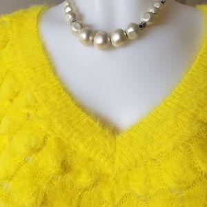 Andre's Mark NY Yellow Textured Sweater Sz L